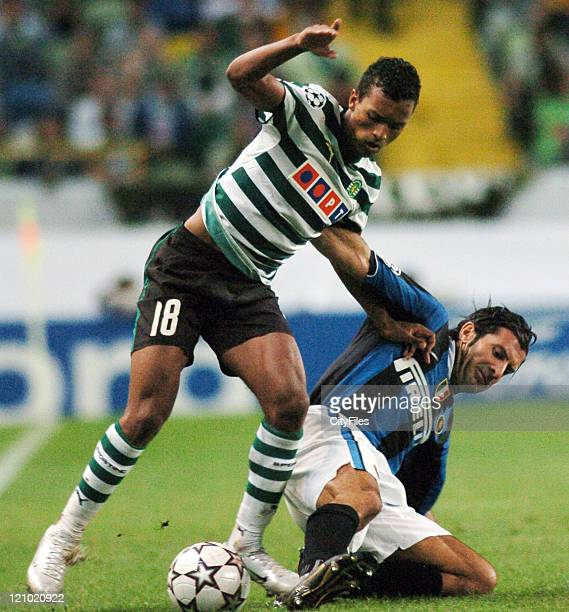 Nani during the UEFA Champions League Group B match between Sporting and FC Internazionale Milano at Estadio Alvalade in Lisbon Portugal on September...