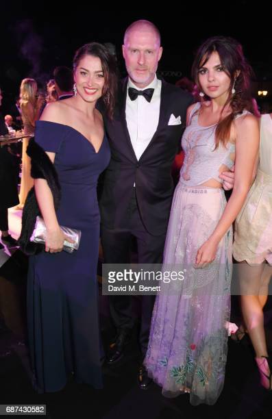 Nani Malat JeanDavid Malat and Doina Ciobanu attend the de Grisogono 'Love On The Rocks' party during the 70th annual Cannes Film Festival at Hotel...
