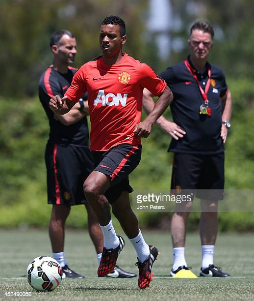 Nani of Manchester United in action during a first team training session as part of their preseason tour of the United States on July 21 2014 in Los...
