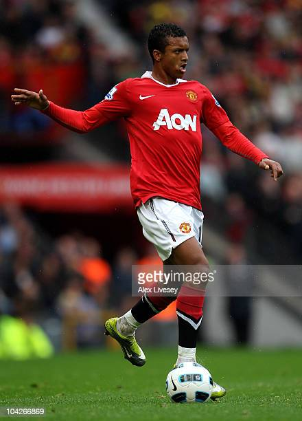 Nani of Manchester United in action during the Barclays Premier League match between Manchester United and Liverpool at Old Trafford on September 19...
