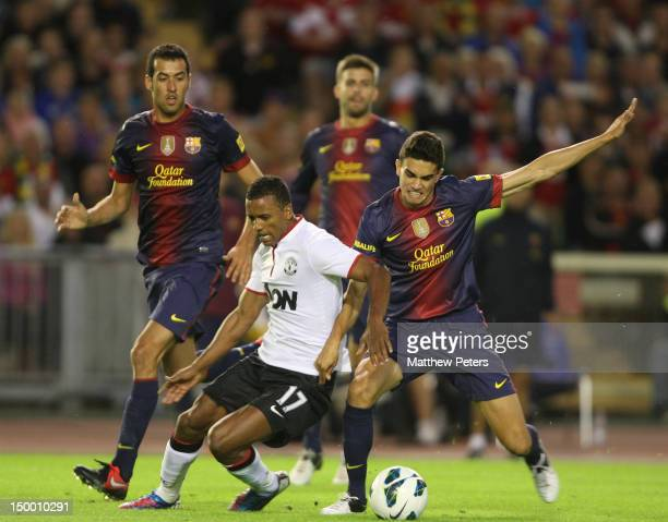 Nani of Manchester United in action during the preseason friendly match between Manchester United and Barcelona on August 8 2012 in Gothenburg Sweden