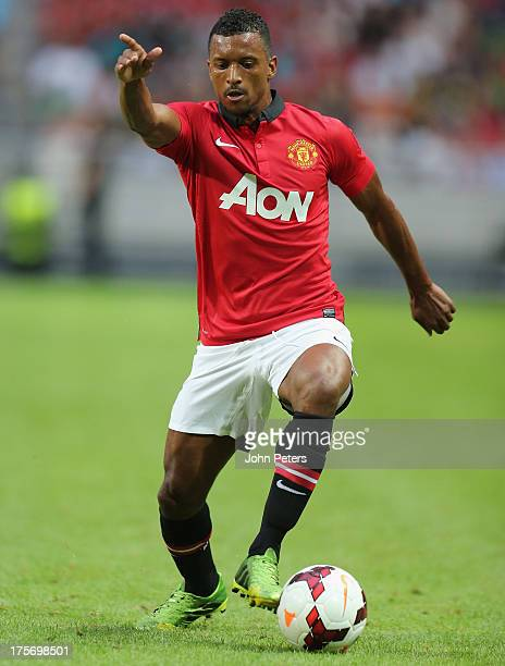 Nani of Manchester United in action during the preseason friendly match between AIK Fotboll and Manchester United at Friends Arena on August 6 2013...