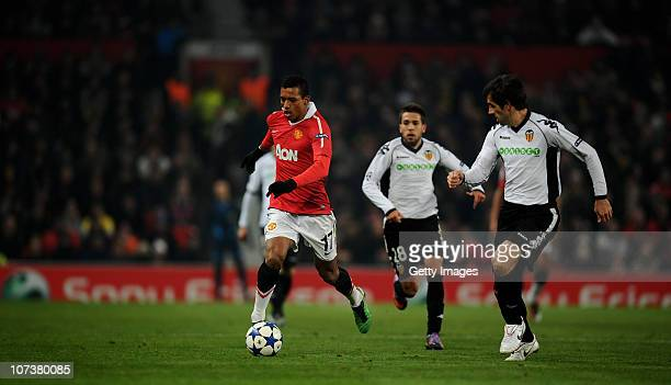 Nani of Manchester United in action during the UEFA Champions League Group C match between Manchester United and Valencia at Old Trafford on December...