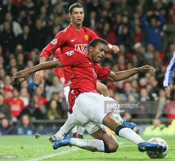 Nani of Manchester United in action during the UEFA Champions League match between Manchester United and Dynamo Kiev at Old Trafford on November 7...