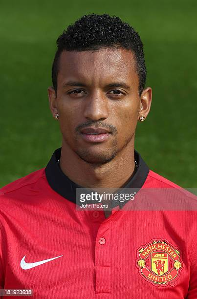 Nani of Manchester United poses at the annual club photocall at Old Trafford on September 26 2013 in Manchester England