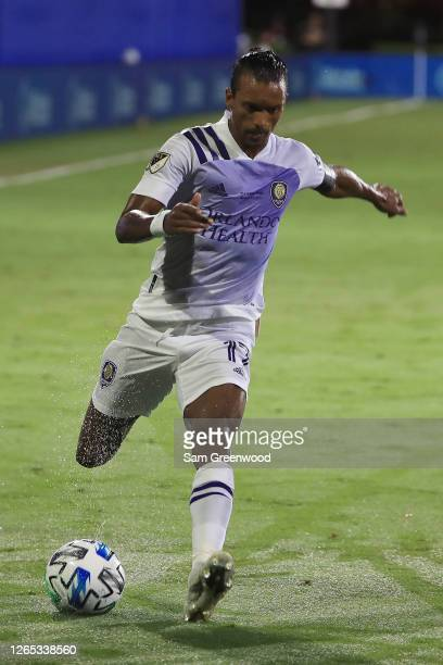 Nani of Orlando City controls the ball during the final match of MLS Is Back Tournament between Portland Timbers and Orlando City at ESPN Wide World...
