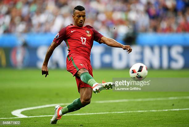 Nani of Portugal in action during the UEFA EURO 2016 Final match between Portugal and France at Stade de France on July 10 2016 in Paris France