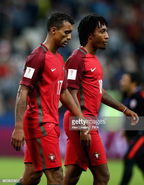 Nani of Portugal looks dejected after missing his sides third penalty during the FIFA Confederations Cup Russia 2017 SemiFinal between Portugal and...