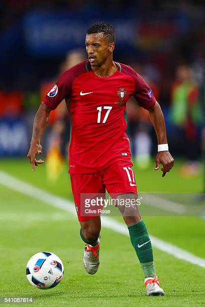 Nani of Portugal runs with the ball during the UEFA EURO 2016 Group F match between Portugal and Austria at Parc des Princes on June 18 2016 in Paris...