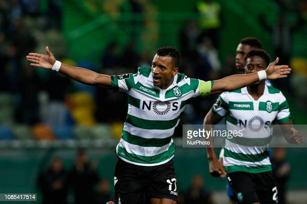 Nani of Sporting celebrates his goal during Primeira Liga 2018/19 match between Sporting CP vs Moreirense FC in Lisbon on January 19 2019