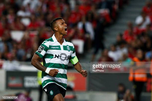 Nani of Sporting CP celebrates his goal during Primeira Liga 2018/19 match between SL Benfica vs Sporting CP in Lisbon on August 25 2018
