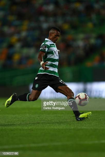 Nani of Sporting CP during the Liga NOS match between Sporting CP and CD Feirense at Estadio Jose Alvalade on September 1 2018 in Lisbon Portugal