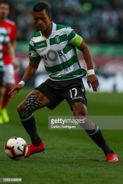 Nani of Sporting CP during the Liga NOS match between Sporting CP and SL Benfica at Estadio Jose Alvalade on February 3 2019 in Lisbon Portugal