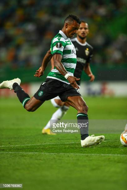 Nani of Sporting CP during the UEFA Europa League Group E match between Sporting CP and Qarabag FK at Estadio Jose Alvalade on September 20 2018 in...