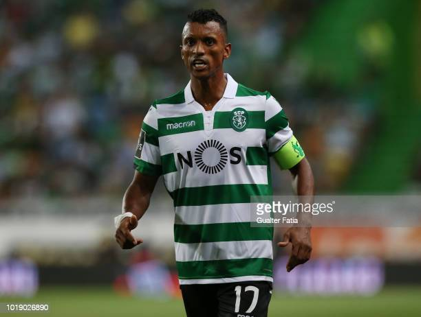 Nani of Sporting CP in action during the Liga NOS match between Sporting CP and Vitoria FC at Estadio Jose Alvalade on August 18 2018 in Lisbon...