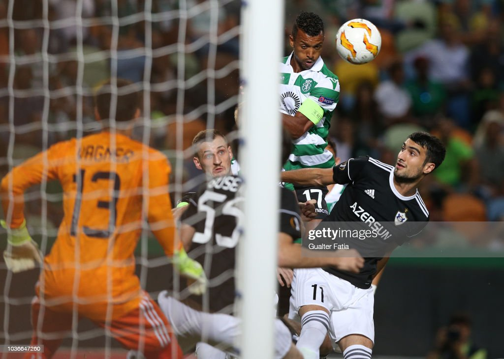 Nani of Sporting CP in action during the UEFA Europa League - Group E match between Sporting CP and Qarabag FK at Estadio Jose Alvalade on September 20, 2018 in Lisbon, Portugal.