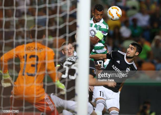 Nani of Sporting CP in action during the UEFA Europa League - Group E match between Sporting CP and Qarabag FK at Estadio Jose Alvalade on September...