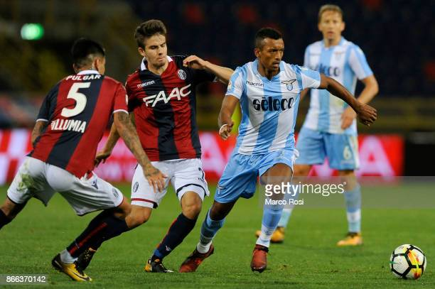 Nani of SS Lazio competes for the ball with Adam Nagy of Bologna FC during the Serie A match between Bologna FC and SS Lazio at Stadio Renato...