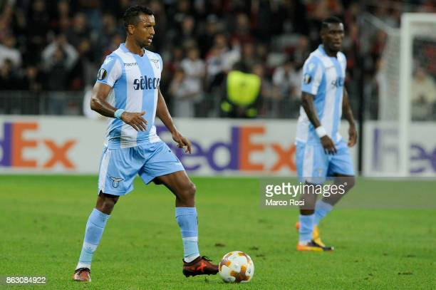 Nani of SS Lazio during the UEFA Europa League group K match between OGC Nice and Lazio at Allianz Riviera Stadium on October 19 2017 in Nice France