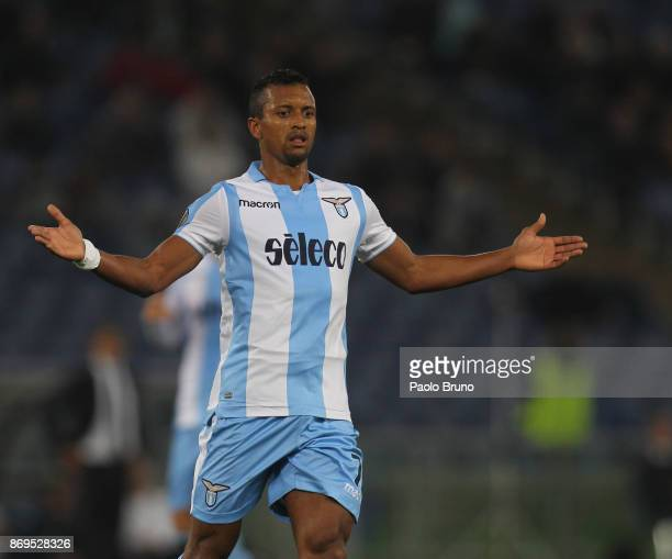Nani of SS Lazio gestures during the UEFA Europa League group K match between SS Lazio and OGC Nice at Stadio Olimpico on November 2 2017 in Rome...