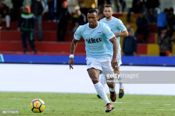 Nani of SS Lazio in action during the Serie A match between Benevento Calcio and SS Lazio at Stadio Ciro Vigorito on October 29 2017 in Benevento...