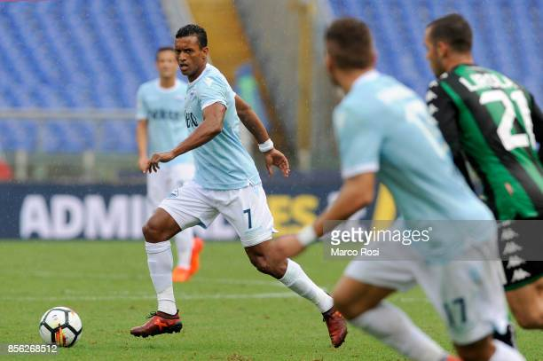 Nani of SS Lazio in action during the Serie A match between SS Lazio and US Sassuolo at Stadio Olimpico on October 1 2017 in Rome Italy