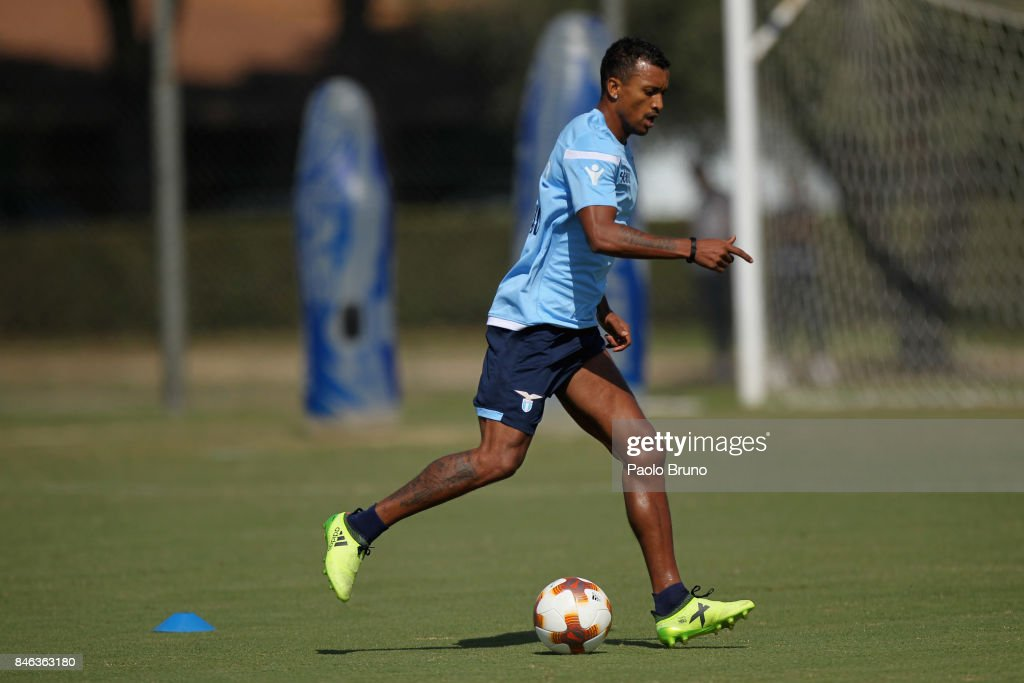 Nani of SS Lazio in action during the SS Lazio training session on September 13, 2017 in Rome, Italy.