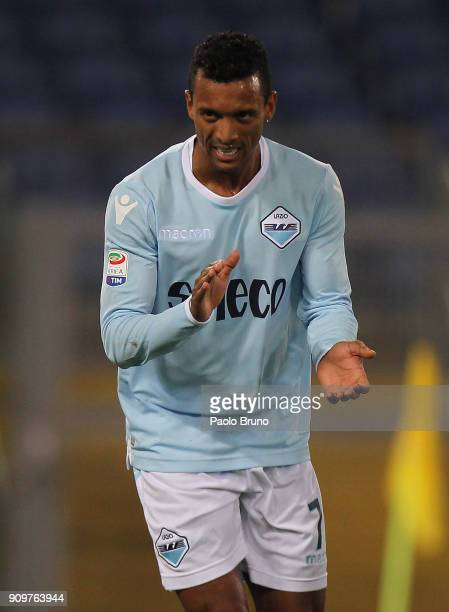 Nani of SS Lazio reacts after the own goal by Caetano Samir of Udinese Calcio during the Serie A match between SS Lazio and Udinese Calcio on January...