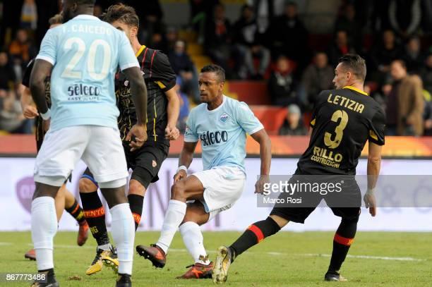 Nani of SS Lazio scotres a fifth goal during the Serie A match between Benevento Calcio and SS Lazio at Stadio Ciro Vigorito on October 29, 2017 in...
