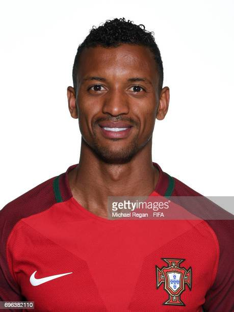 Nani poses for a picture during the Portugal team portrait session on June 15 2017 in Kazan Russia