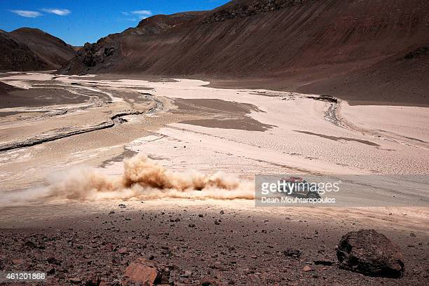 Nani Roma of Spain and Michel Perin of France driving for the ALL4 Racing Mini Monster Energy Rally Raid Team compete during day 5 of the Dakar...