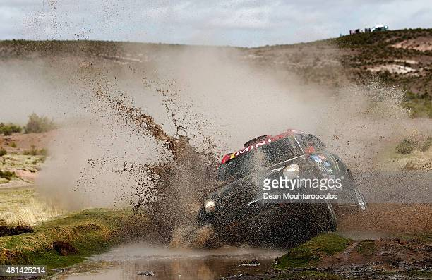 Nani Roma of Spain and Michel Perin of France driving for the ALL4 Racing Mini Monster Energy Rally Raid Team compete during day 7 of the Dakar...