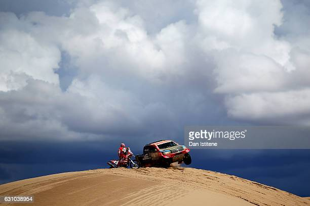 Nani Roma of Spain and Toyota Overdrive drives with codriver Alex Haro Bravo of Spain in the Hilux Toyota car in the Classe T11 4x4 ToutTerrain...