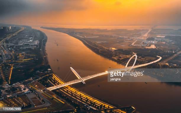 nanjing stadsarchitectuur landschap - nanjing road stockfoto's en -beelden
