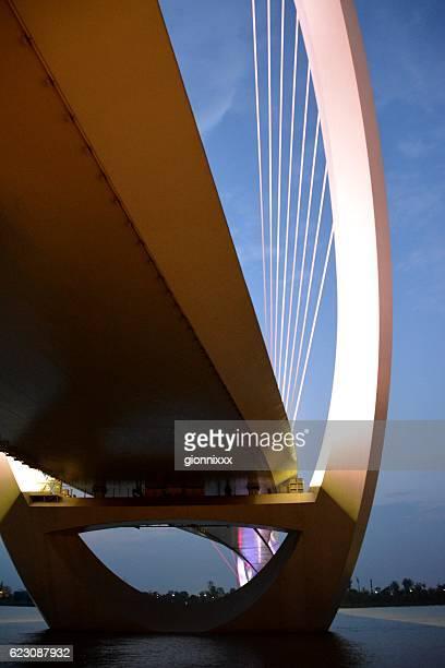 nanjing eye pedestrian bridge, jiangsu province, china - nanjing stock pictures, royalty-free photos & images