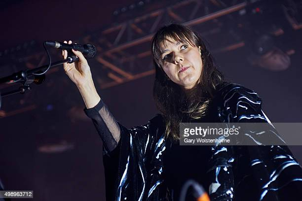 Nanna Bryndis Hilmarsdottir from Of Monsters And Men performs at O2 Academy Sheffield on November 27 2015 in Sheffield England
