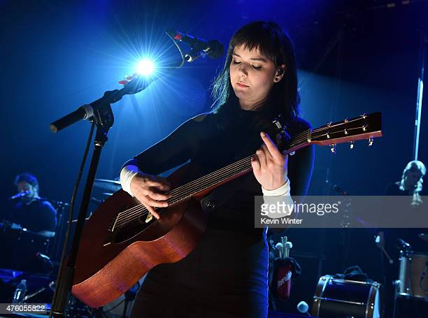 Nanna Bryndis Hilmarsdottir from Of Monsters And Men performs onstage for iHeartRadio Live at the iHeartRadio Theater Los Angeles on June 5 2015 in...