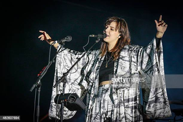 Nanna Bryndis Hilmarsdottir of Of Monsters and Men performs on Day 1 of the Osheaga Music and Art Festival on July 31 2015 in Montreal Canada