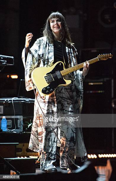 Nanna Bryndis Hilmarsdottir of Of Monsters and Men performs onstage at The Beacon Theatre on September 22 2015 in New York City