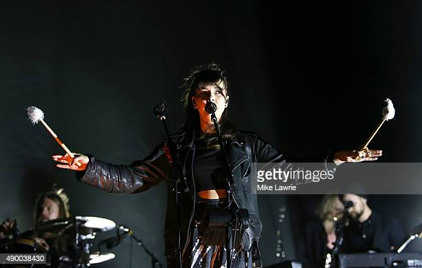 Nanna Bryndis Hilmarsdottir of Of Monsters and Men performs onstage during day one of the Boston Calling Music Festival at Boston City Hall Plaza on...