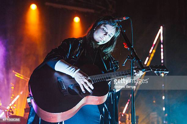 Nanna Bryndis Hilmarsdottir of the band Of Monsters and Men performs on stage at The Forum on June 16 2015 in London United Kingdom