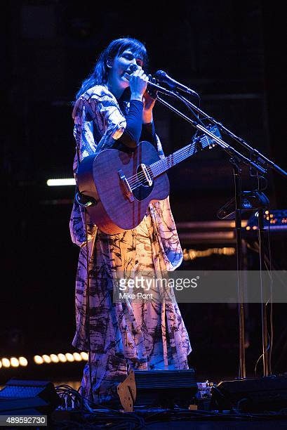 Nanna Bryndis Hilmarsdottir of the band Of Monsters and Men performs in concert at the Beacon Theatre on September 22 2015 in New York City