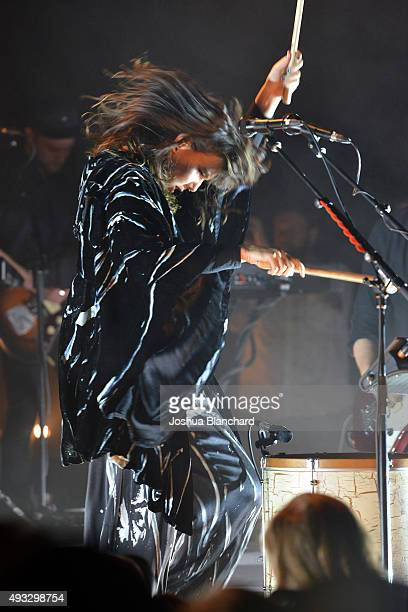 Nanna Bryndis Hilmarsdottir performs at the Of Monsters and Men benefit concert for MusiCares at the El Rey Theater on Sunday, October 18 in Los...