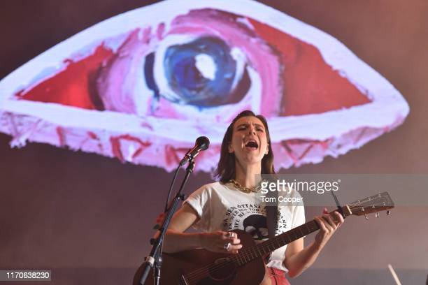 Nanna Bryndís Hilmarsdóttir performs on stage at iHeartRadio Live and Verizon Brings You Of Monsters and Men at The Ogden on August 27 2019 in Denver...