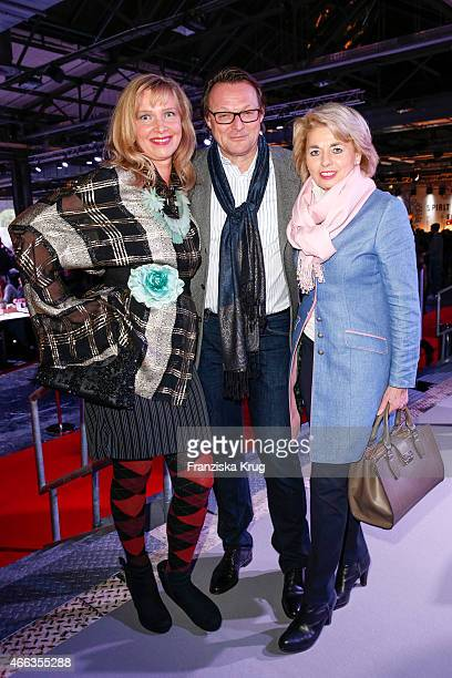 Nanna Kuckuck Dirk Ullmann and Tini Rothkirch attend the Spirit of Istanbul by Yeni Raki on March 14 2015 in Berlin Germany