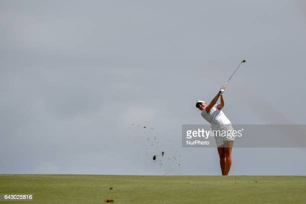 Nanna Madsen from Denmark during round four of the ISPS Handa Women's Australian Open at Royal Adelaide Golf Club on February 19 2017 in Adelaide...