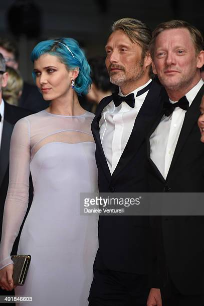 Nanna Oland Fabricius Mads Mikkelsen and Douglas Henshall attend the The Salvation Premiere at the 67th Annual Cannes Film Festival on May 17 2014 in...