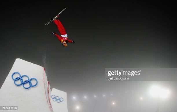Nannan Xu of China competes in the Womens Freestyle Skiing Aerials Final on Day 12 of the 2006 Turin Winter Olympic Games on February 22, 2006 in...