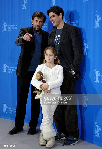 Nanni Moretti, Alessandro Gassman and Blu Yoshimi attend the 'Quiet Chaos' Photocall as part of the 58th Berlinale Film Festival at the Grand Hyatt...