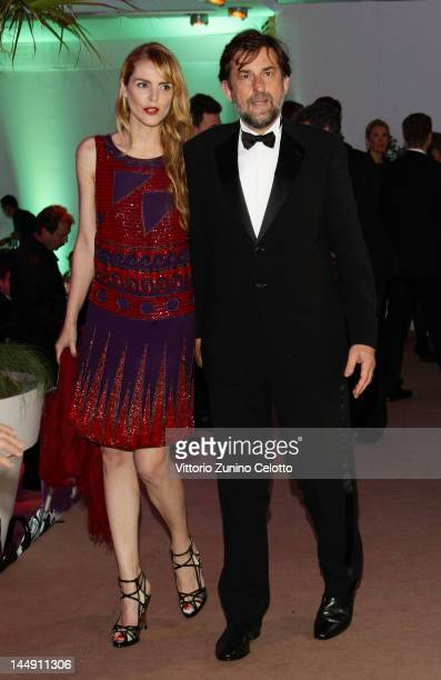 Nanni Moretti and Chiara Palmieri attend the 65th Anniversary Party at the Agora May 21 2012 in Cannes France